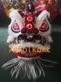 Lo fu chi lion heads with wolf fur 7