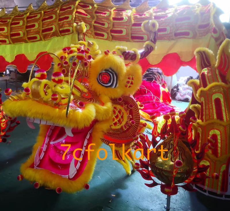 Gold-yellow huge southern dragon set 1