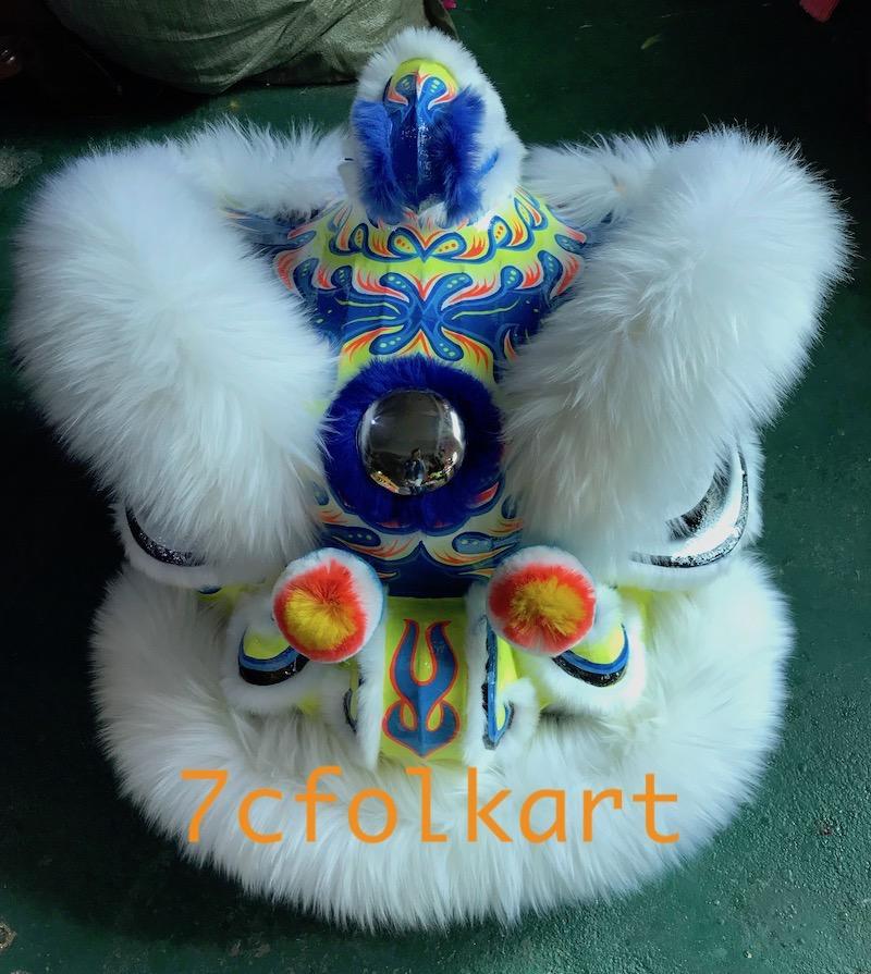 Beautiful blue base white fur hoksan lion 1