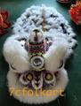 Purple base white fur hoksan lion head with LED lights