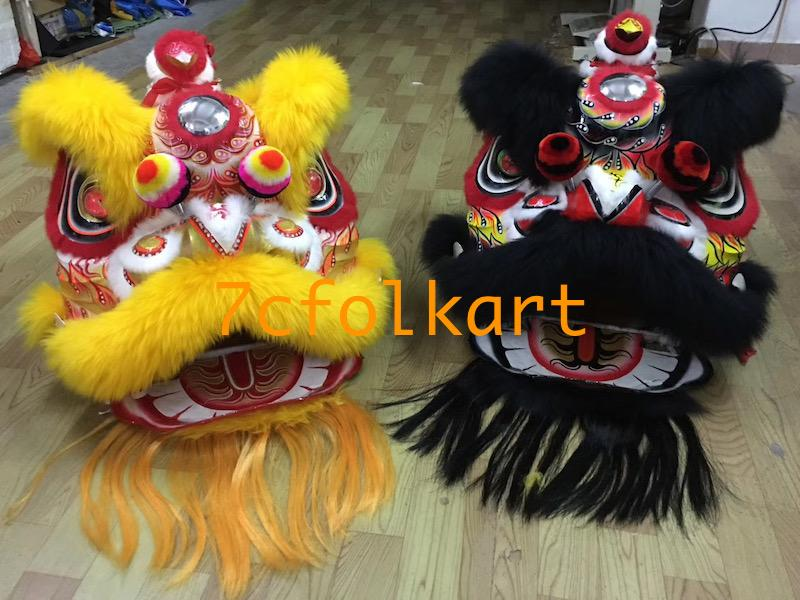 Futsan style lion heads in different painting and colors 4