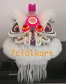 Purple base white fur hoksan lion head