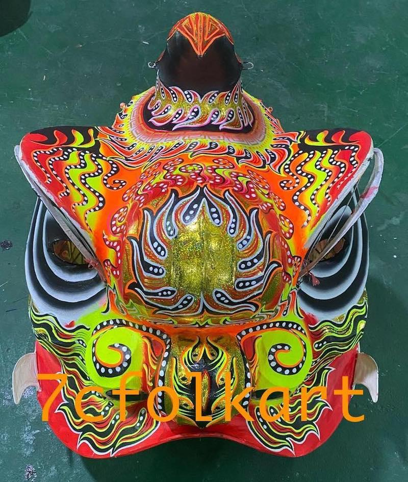 Beautiful paintings of futsan style lion heads 4