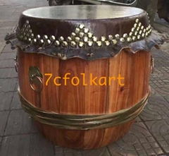 High pitch raw wood drums for lion dancing