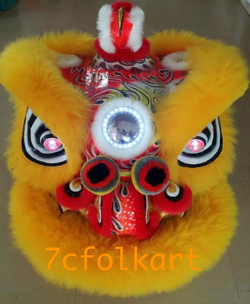 Gold-yellow sheep fur hoksan style lion heads 4