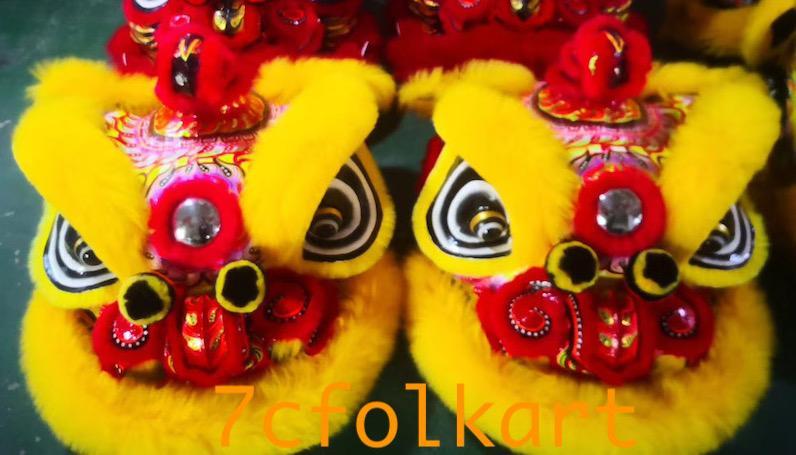 Gold-yellow sheep fur hoksan style lion heads 10