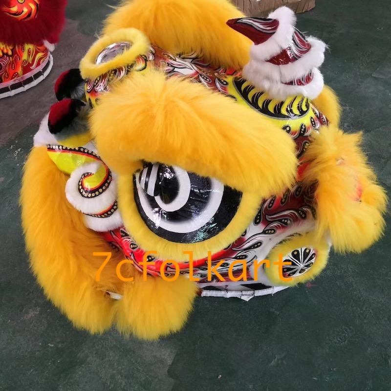 Gold-yellow sheep fur futsan style lion heads 4