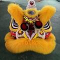 Gold-yellow sheep fur futsan style lion heads 3