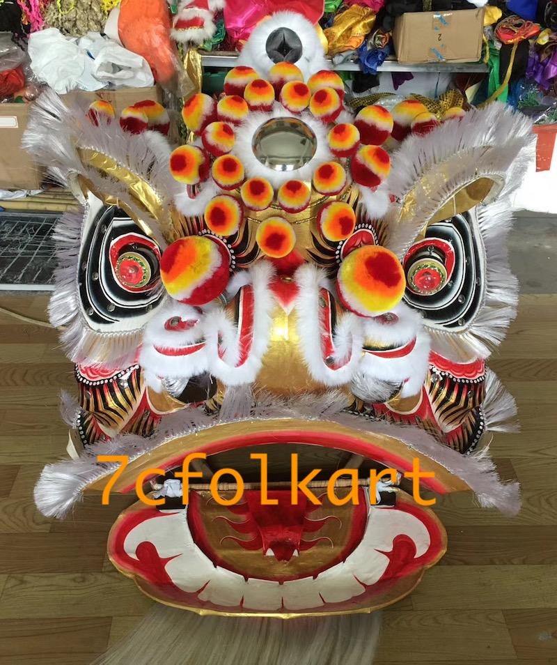 Futsan style traditional lion heads with bristle of good quality 8