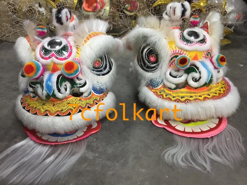 Ram fur traditional hoksan shape lion heads of good quality 11