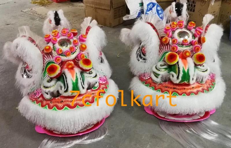 Ram fur traditional hoksan shape lion heads of good quality 12