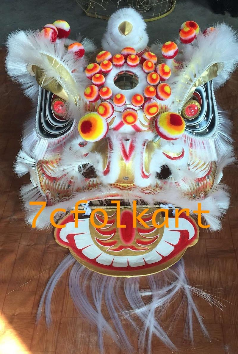 Futsan style traditional lion heads with bristle of good quality 3