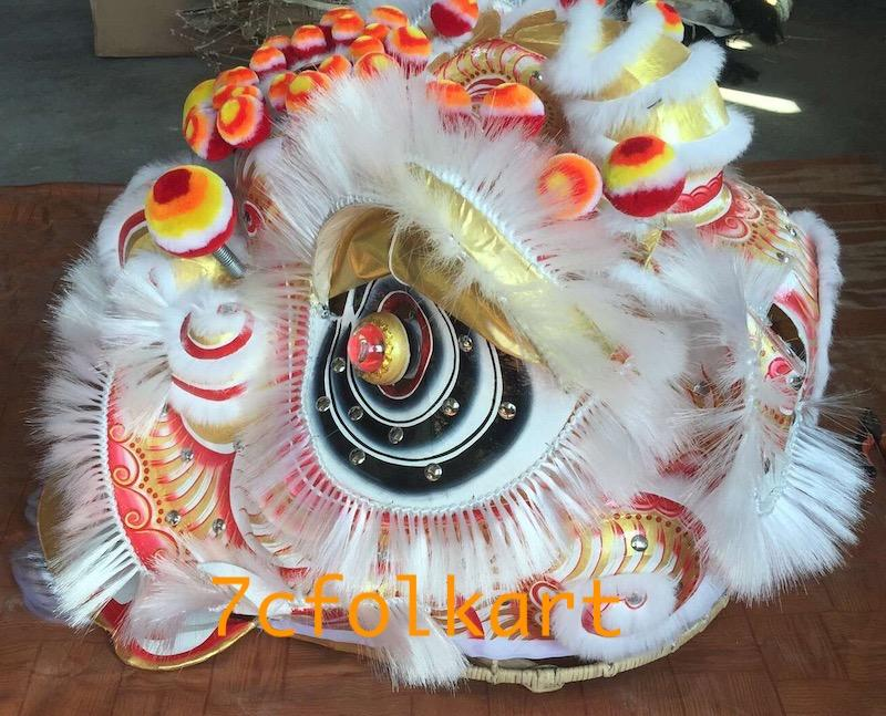 Futsan style traditional lion heads with bristle of good quality 4