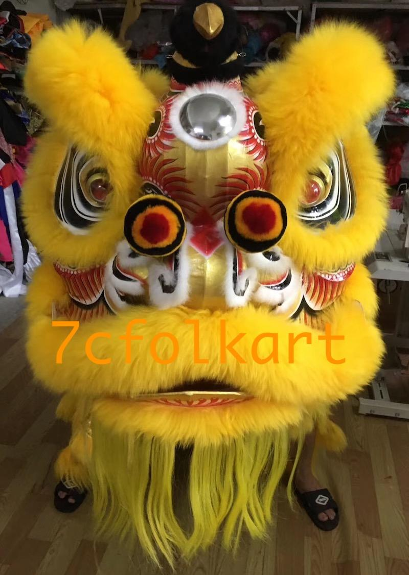 Futsan style lion heads in different painting and colors 1