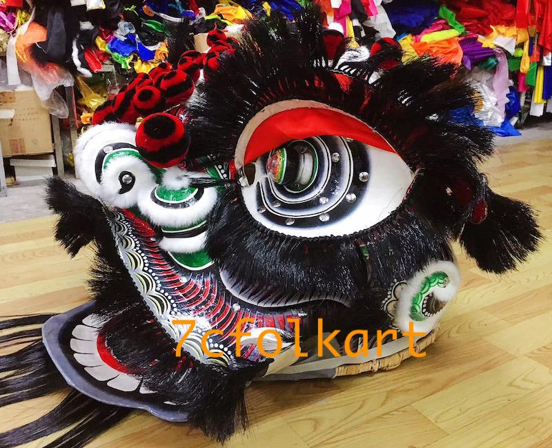 Futsan style traditional lion heads with bristle of good quality 2