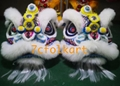 Law Fu Zi lion heads with wool
