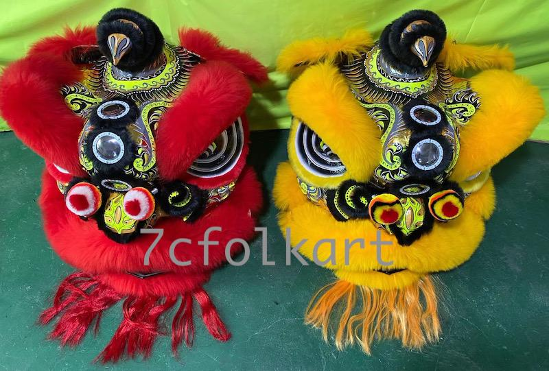Law Fu Zi lion heads with wool 1