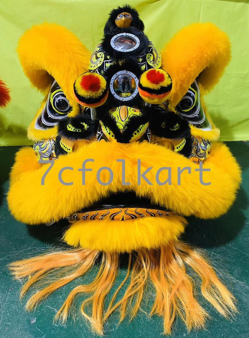 Law Fu Zi lion heads with wool 9
