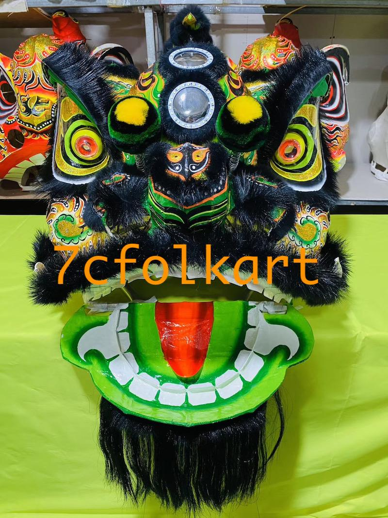 Lo fu chi lion heads with wolf fur 8