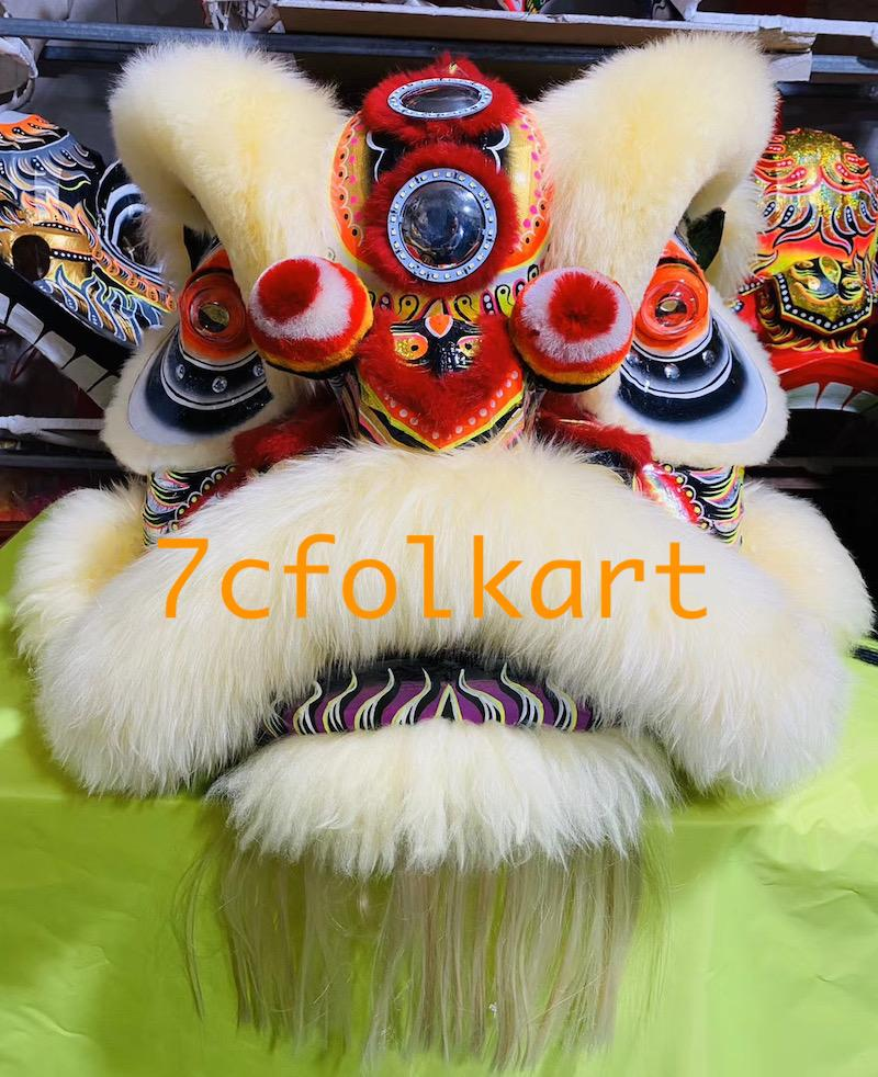 Law Fu Zi lion heads with wool 4