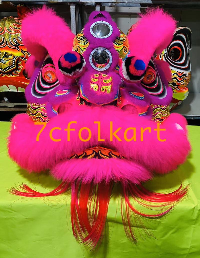 Law Fu Zi lion heads with wool 8