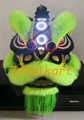 Green fur Law Fu Chi lion head with LED