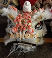 Chinese traditional lion heads with white bristle