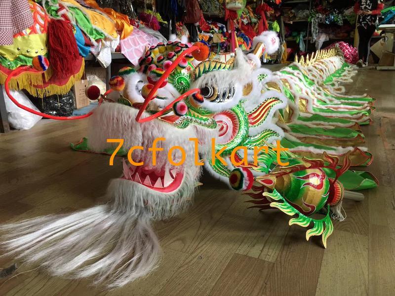 Beautiful green southern dragon with white ram fur 1
