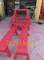 Lion dance equipment benches, table, tub