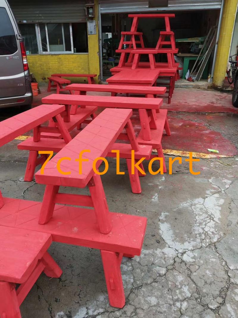 Lion dance equipment benches, table, tub, high pole, quincuncial piles 4