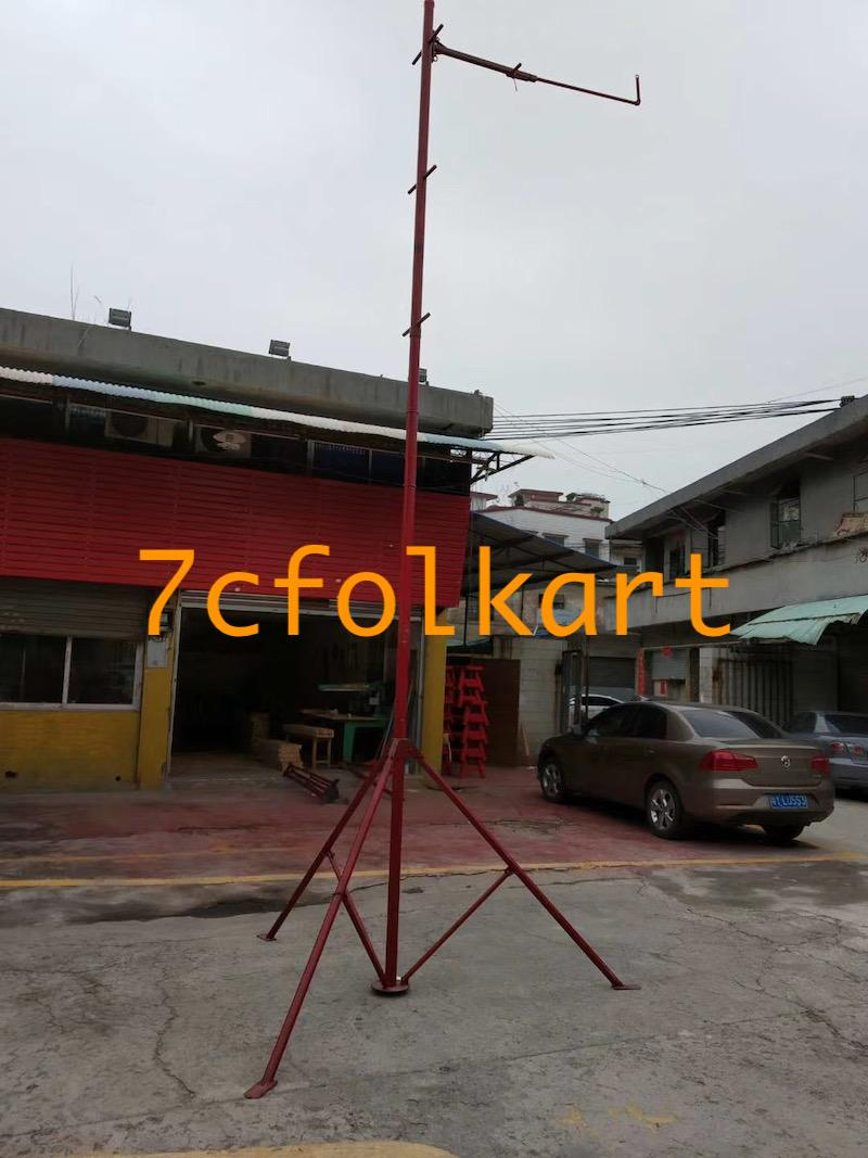 Lion dance equipment benches, table, tub, high pole, quincuncial piles 7