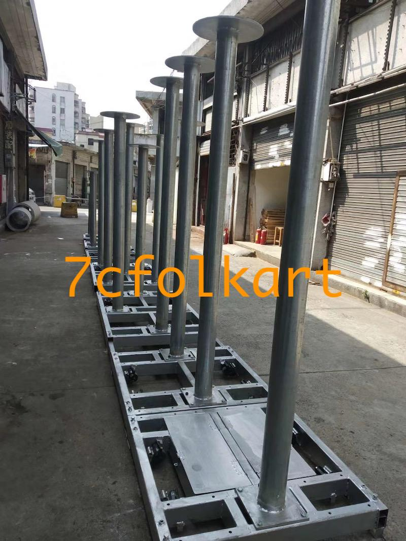 Lion dance equipment benches, table, tub, high pole, quincuncial piles 9