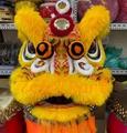 Gold-yellow sheep fur futsan style lion heads
