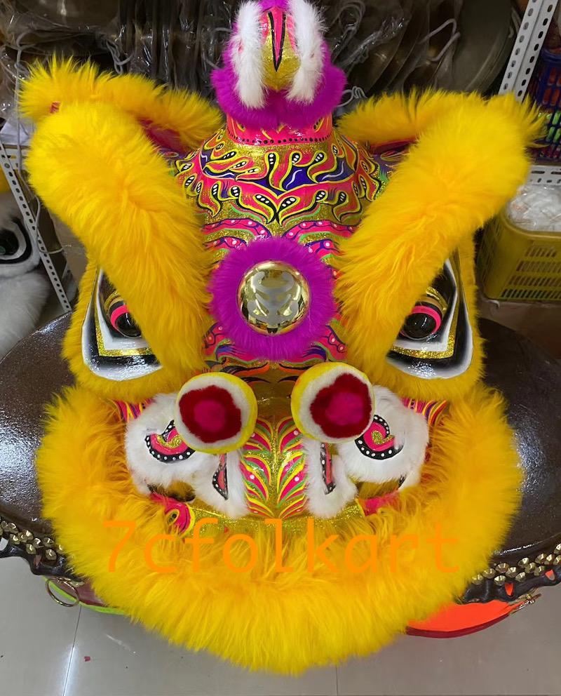 Gold-yellow sheep fur hoksan style lion heads 1
