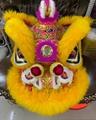 Gold-yellow sheep fur hoksan style lion heads