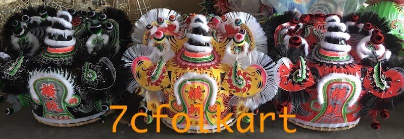 Good quality and beautiful traditional futsan style lion heads 2