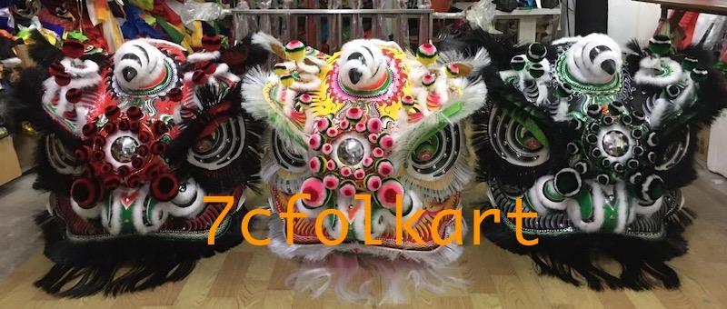 Good quality and beautiful traditional futsan style lion heads 1