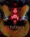 Hoksan style with 3 mirrors lion head