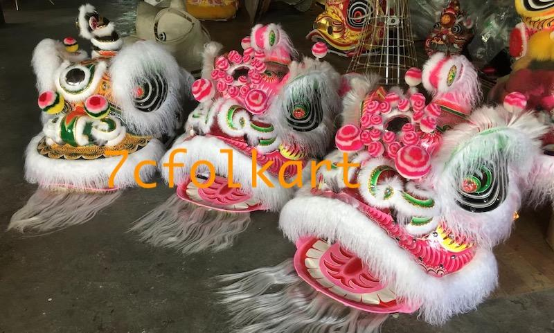 Ram fur traditional hoksan shape lion heads of good quality 3