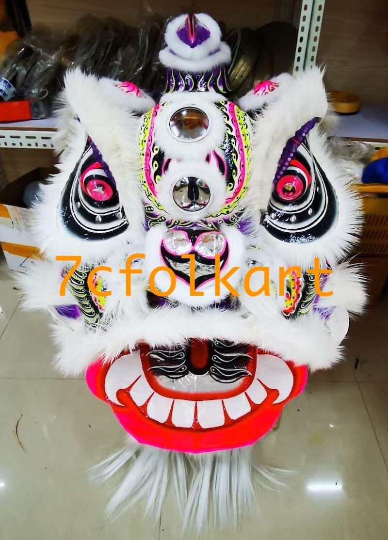 Lo fu chi lion heads with wolf fur 2