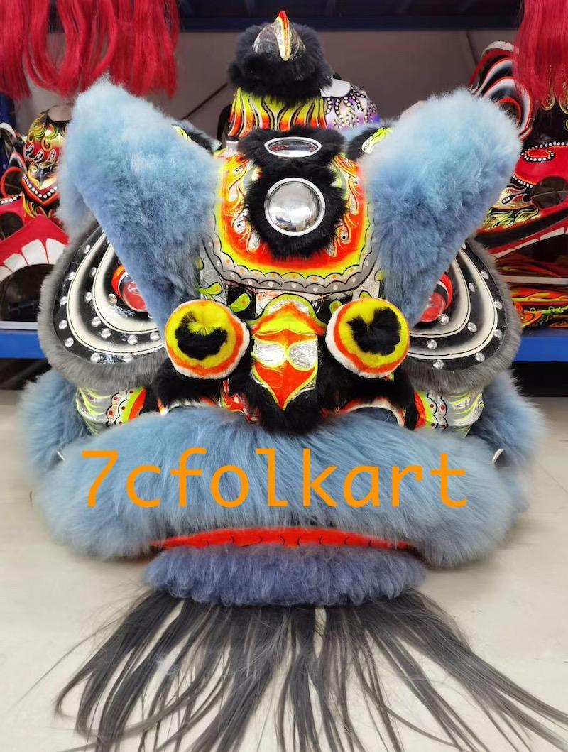 Law Fu Zi lion heads with wool 11