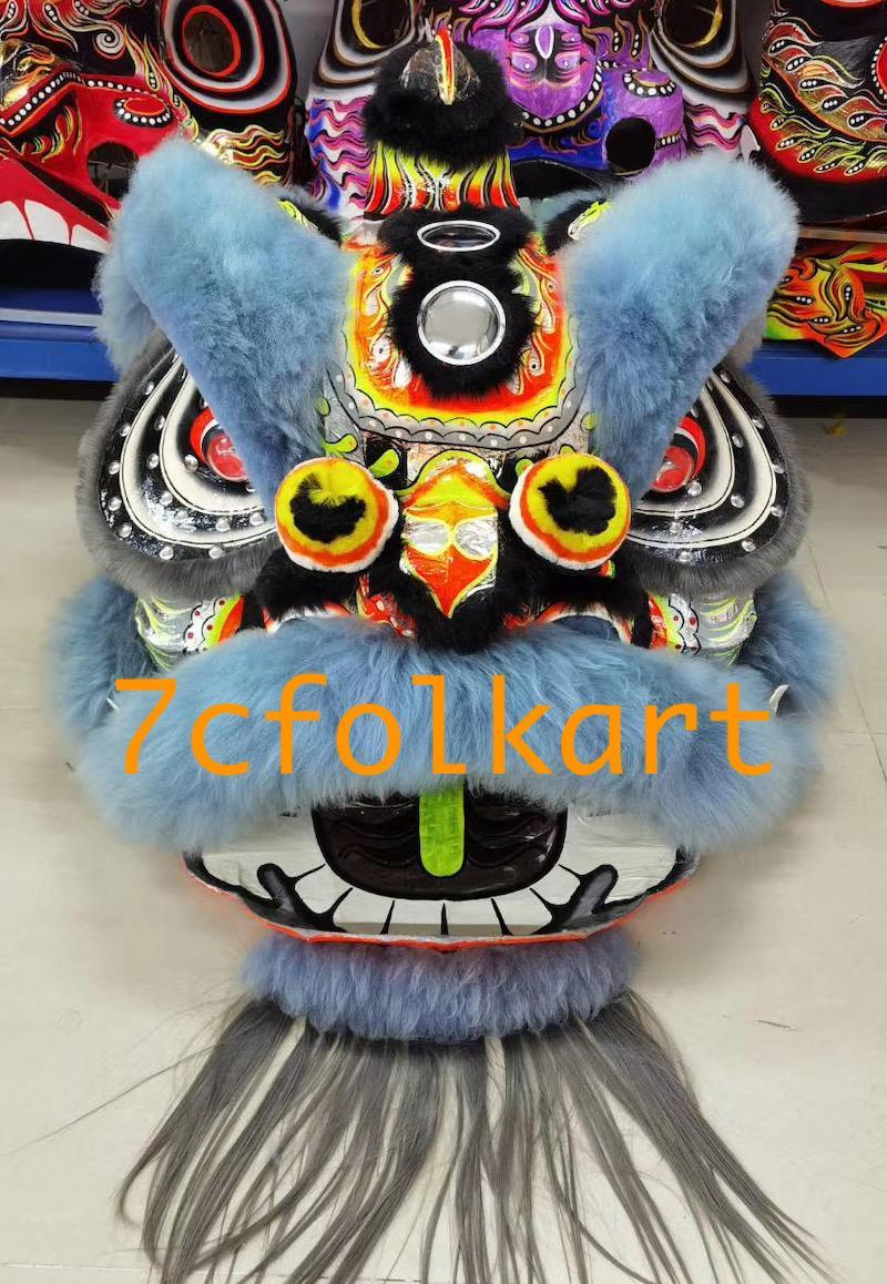 Law Fu Zi lion heads with wool 12