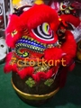 Red fur Law Fu Chi lion head with LED