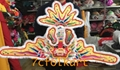 Hand-Embroidered banner with flying fish for lion dancing 2