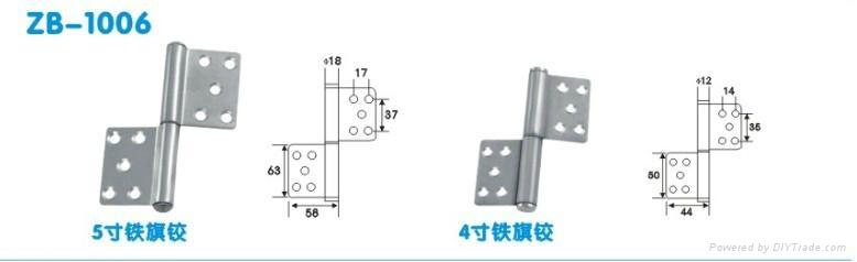 5寸可调式90度定位不锈钢液压合页 5