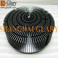 182mm 60W circular forging heatsink pin fin led radiators