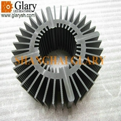 133mm round extrusion heat sinks aluminum profile led cooling