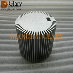 101mm AL6063 Extrusion Profiles for High Power LED Light Heat Dissipator