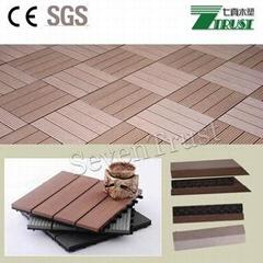 300x300mm wpc DIY floor tile Outdoor easy install  floor