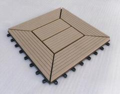 WPC DIY tiles for outdoor garden deco